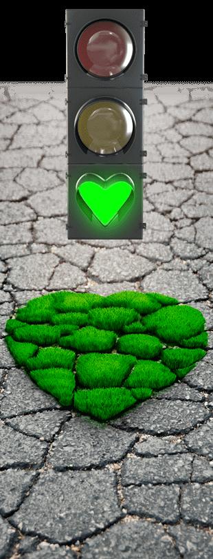 semáforo con corazón